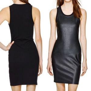ARITZIA Wilfred Free Faux Leather Sleeveless Dress